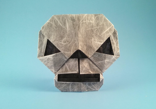 Origami Skull by Wayne Brown folded by Gilad Aharoni
