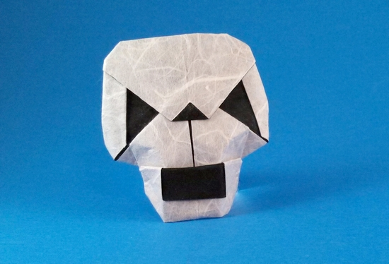 Origami Skull by Francisco Javier Caboblanco folded by Gilad Aharoni