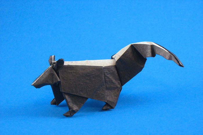 Origami Skunk by John Montroll folded by Gilad Aharoni
