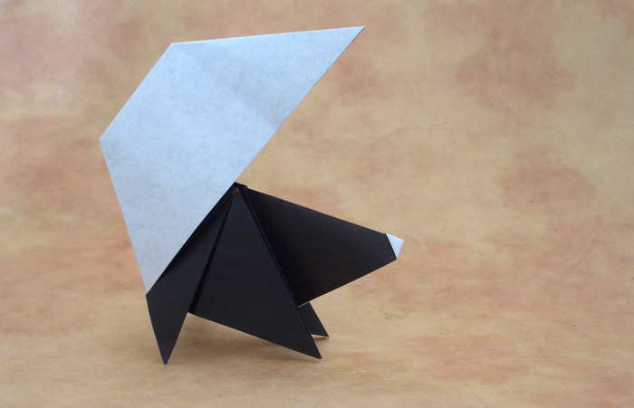 Origami Skunk by Nick Robinson folded by Gilad Aharoni on giladorigami.com