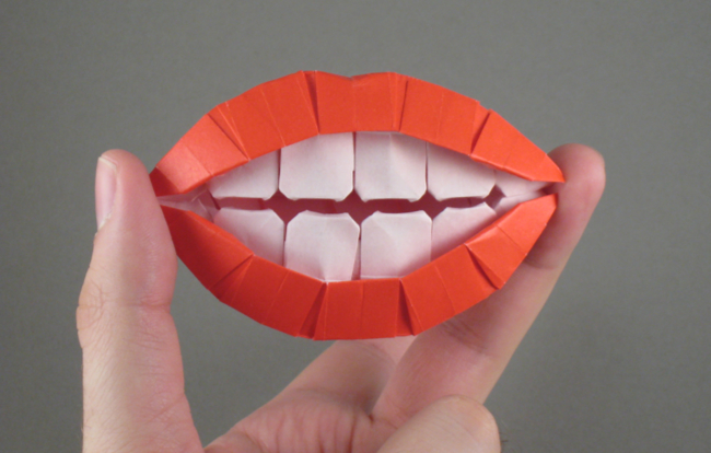 origami mouth teeth