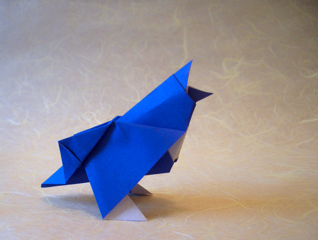 Origami Songbird by Kunihiko Kasahara folded by Gilad Aharoni