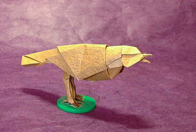 Origami Songbird 1 by Robert J. Lang folded by Gilad Aharoni
