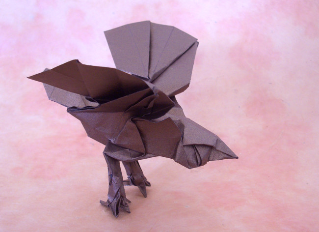 Origami Sparrow by Roman Diaz folded by Gilad Aharoni