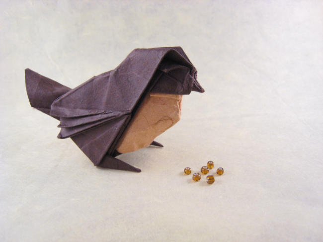 Origami Sparrow By Roman Diaz Folded Gilad Aharoni