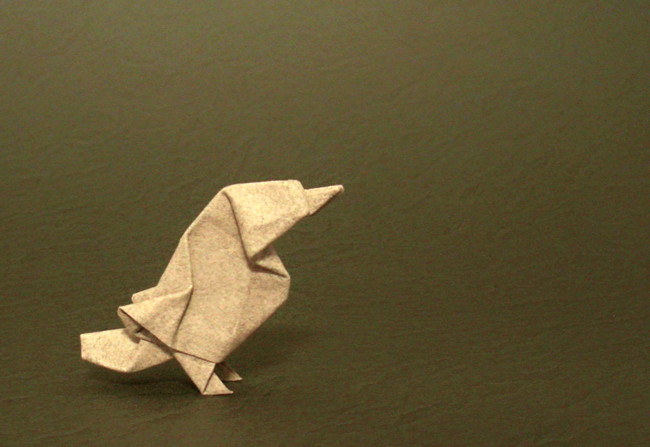 Origami Sparrow by Kunihiko Kasahara folded by Gilad Aharoni
