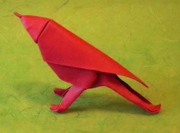 Origami Sparrow by Saadya Sternberg folded by Gilad Aharoni