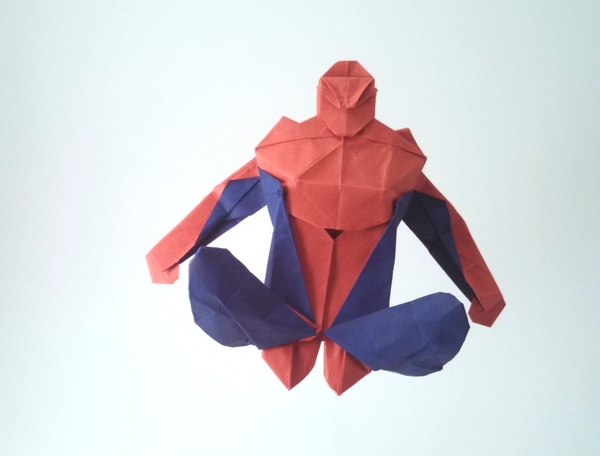 Origami Spiderman by Juan Francisco Carrillo folded by Gilad Aharoni on giladorigami.com