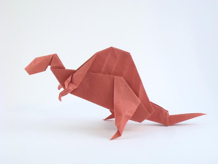 Origami Spinosaurus By John Montroll Folded Gilad Aharoni