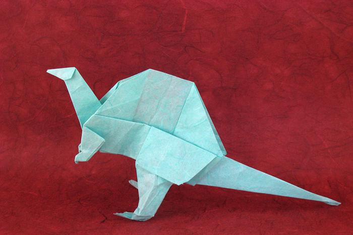 Origami Spinosaurus by Takai Hiroaki folded by Gilad Aharoni