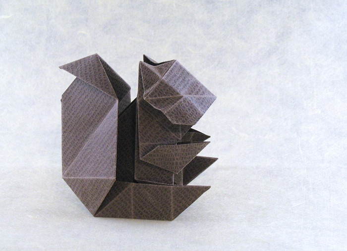 Origami Squirrel by Ryo Aoki folded by Gilad Aharoni on giladorigami.com