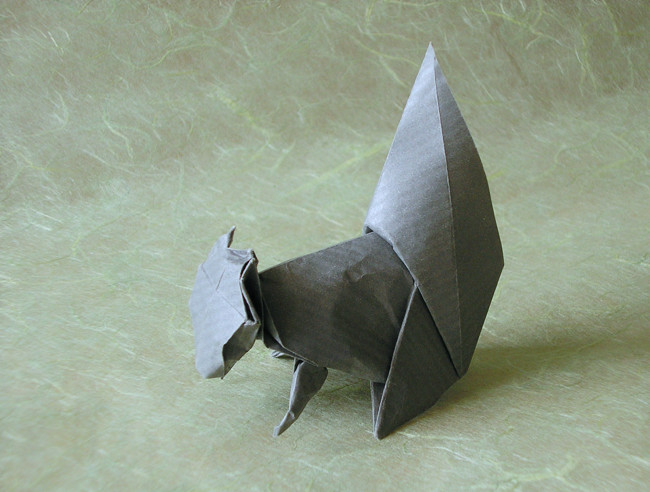 Origami Squirrel by David Brill folded by Gilad Aharoni