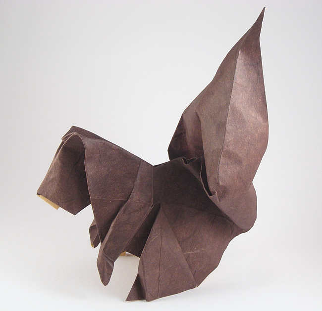 Origami Squirrel by Peter Engel folded by Gilad Aharoni