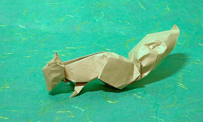 Origami Squirrel by Alfredo Giunta folded by Gilad Aharoni