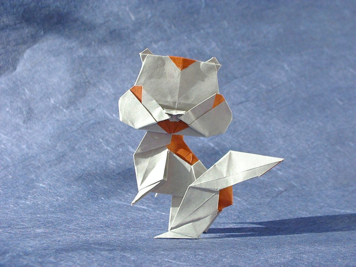 Origami Squirrel by Taichiro Hasegawa folded by Gilad Aharoni