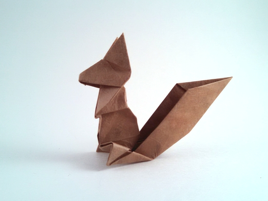Origami Squirrel by Fumiaki Kawahata folded by Gilad Aharoni