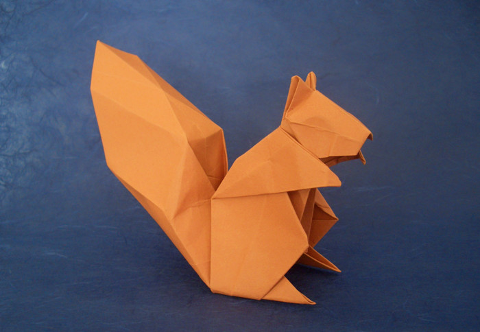 Origami Squirrel by Hideo Komatsu folded by Gilad Aharoni on giladorigami.com