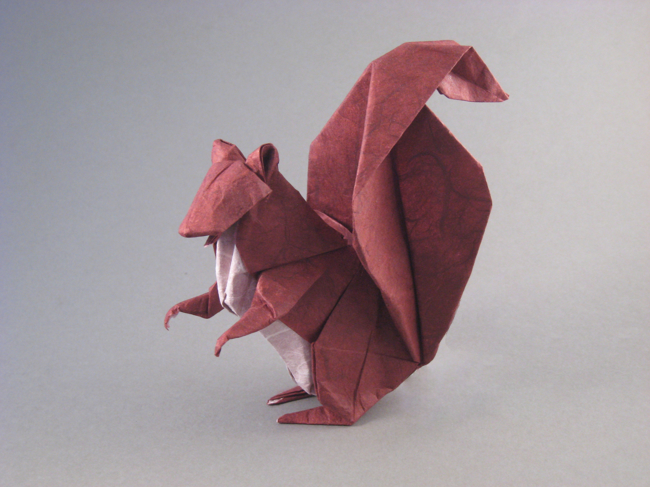 Origami Squirrel by Michael G. LaFosse folded by Gilad Aharoni on www.giladorigami.com
