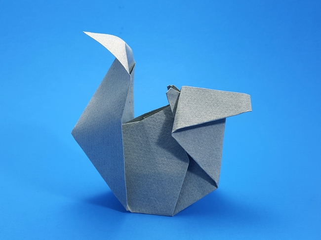 Origami Squirrel by Anne LaVin folded by Gilad Aharoni