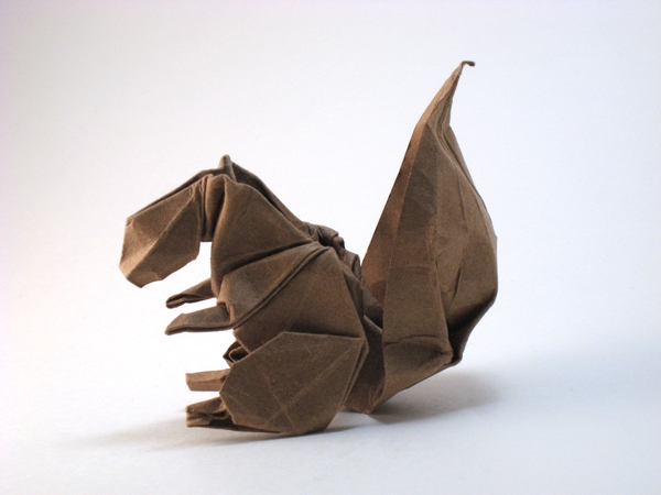 Origami Squirrel by Teruo Tsuji folded by Gilad Aharoni