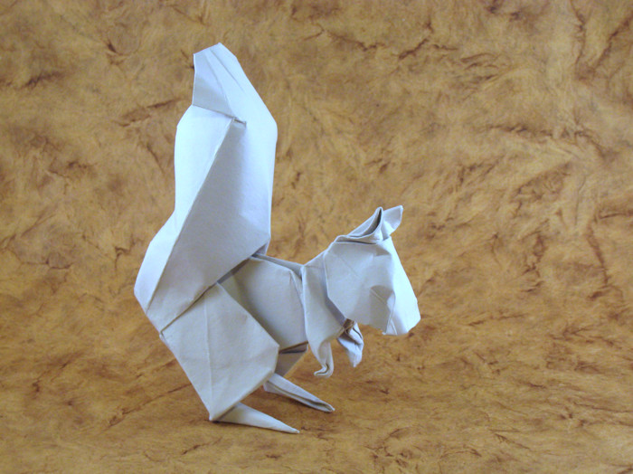 Origami Squirrel by Stephan Weber folded by Gilad Aharoni