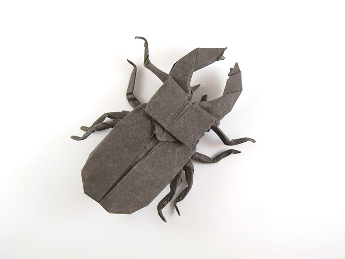 Origami Stag beetle by Peter Budai folded by Gilad Aharoni on giladorigami.com