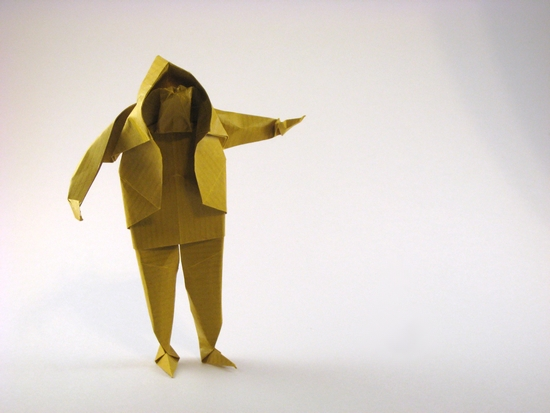 Origami Standing Man By Saadya Sternberg Folded From A Square Of Kraft Paper Gilad