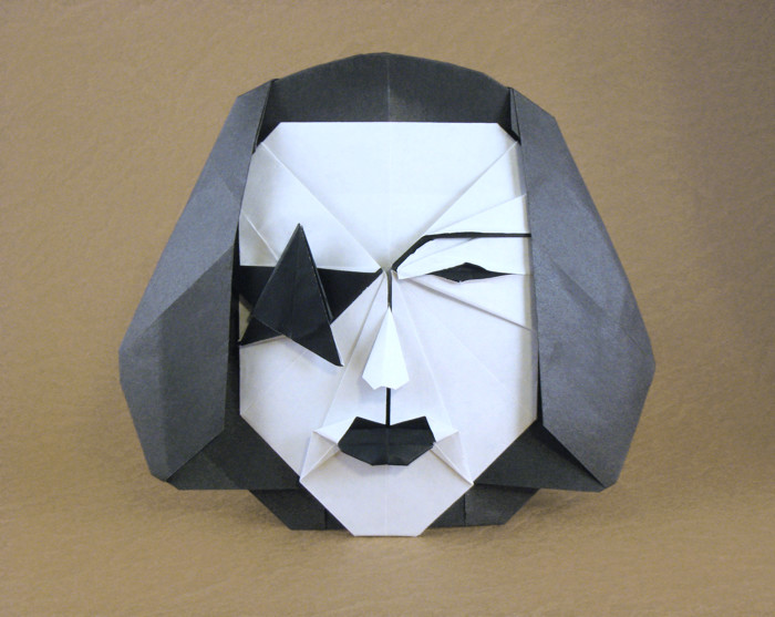 Origami KISS mask - Paul Stanley - The Starchild by Alexander Oliveros Avila folded by Gilad Aharoni on giladorigami.com