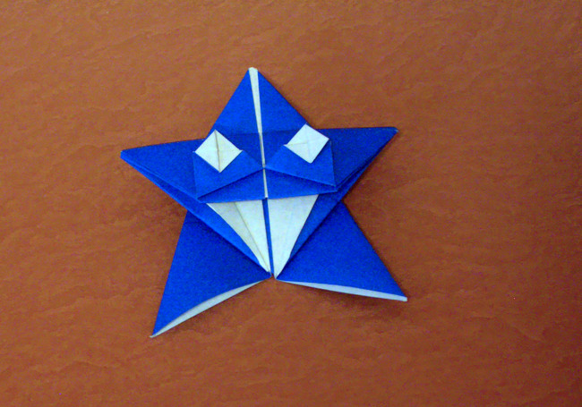Origami Twinkle star by Go Kinoshita Folded from a square of origami paper by Gilad Aharoni on www.giladorigami.com
