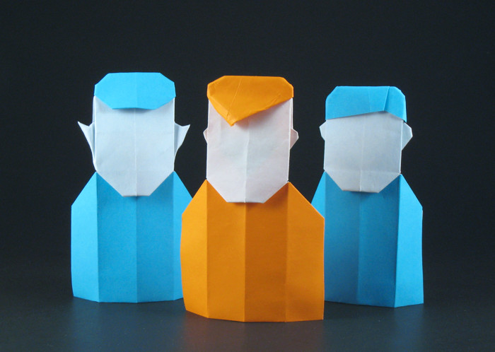 Origami Mr. Spock by Gilad Aharoni folded by Gilad Aharoni on giladorigami.com