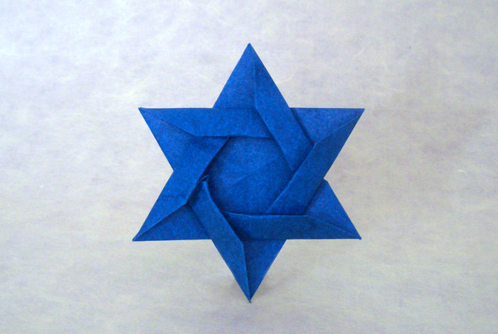 star of david kunihiko kasahara gilads origami page