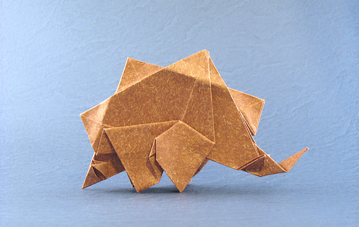 Origami Stegosaurus by Ryan MacDonell (Cupcake) folded by Gilad Aharoni