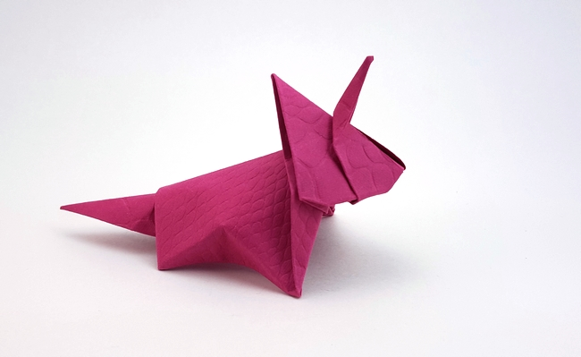 Origami Styracosaurus by Nick Robinson Folded from a square of art paper by Gilad Aharoni on giladorigami.com