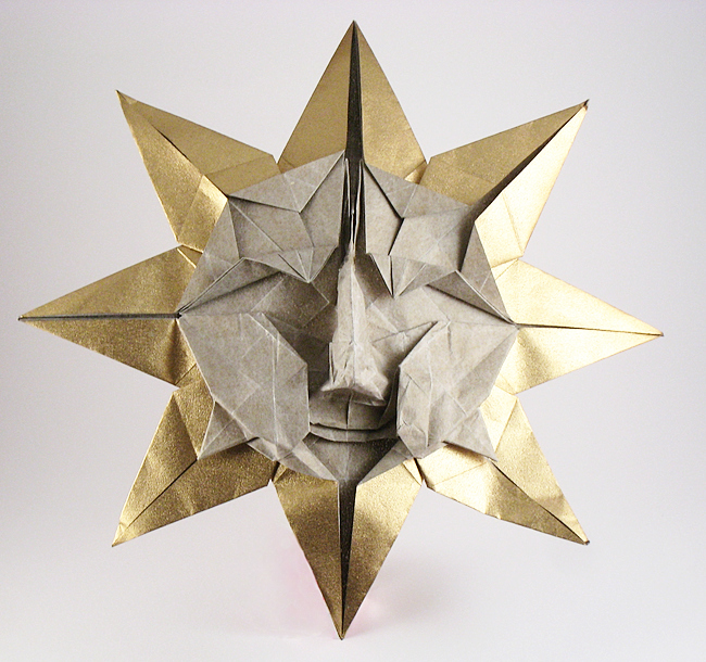 Origami Sun by Peter Engel folded by Gilad Aharoni