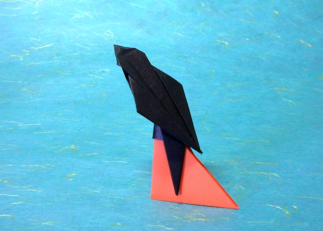 Origami Swallow by Toshikazu Kawasaki folded by Gilad Aharoni