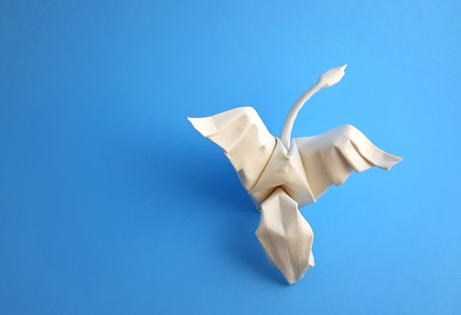 Origami Swan by Eric Joisel folded by Gilad Aharoni