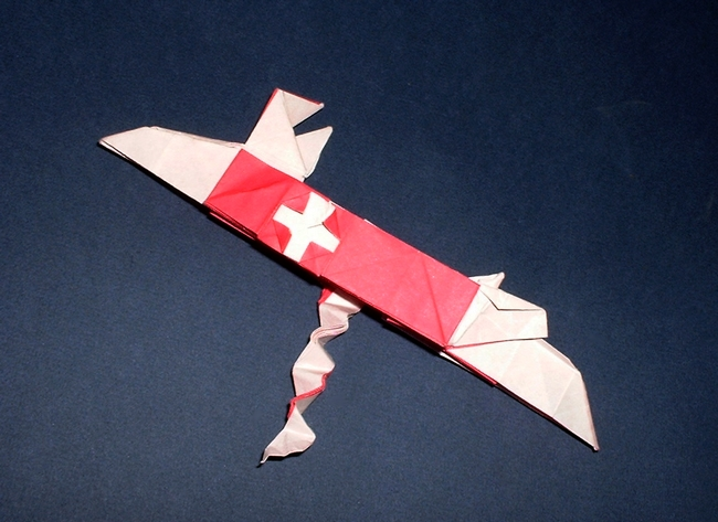 Origami Swiss army knife by Jun Maekawa folded by Gilad Aharoni on giladorigami.com