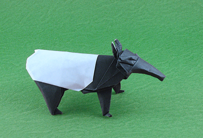 Origami Malayan tapir by Quentin Trollip folded by Gilad Aharoni