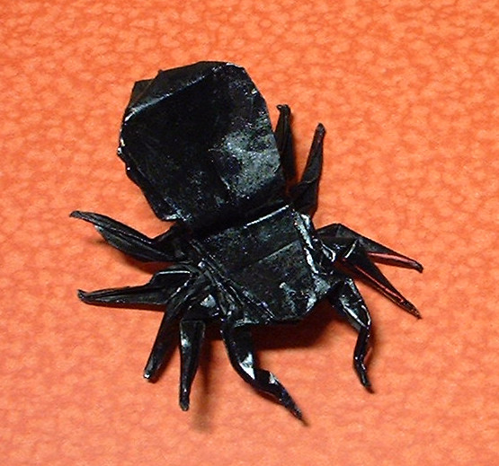 Origami Tarantula by Robert J. Lang folded by Gilad Aharoni