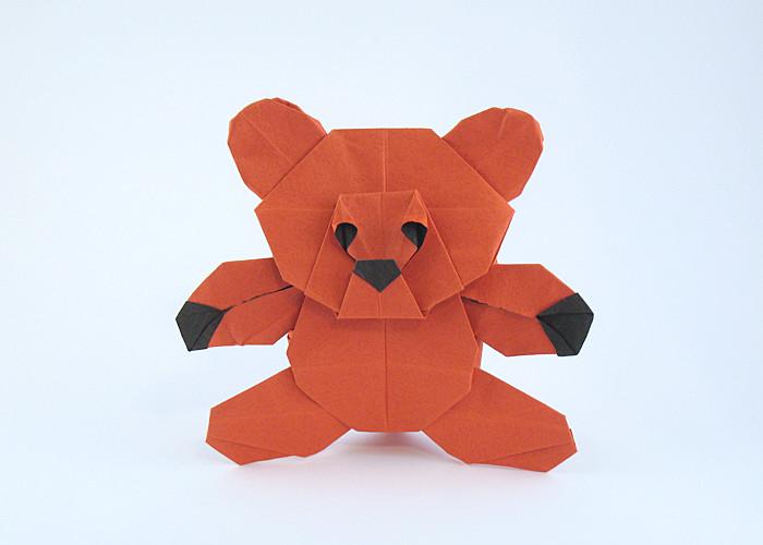 Teddy bear Quentin Trollip | Gilad's Origami Page