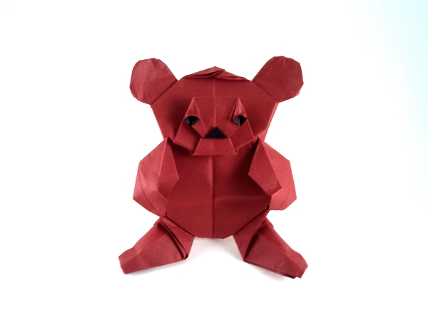Didier Piguel 180 Square Origami Teddy Bear By Folded From A Of Tant Paper Gilad Aharoni