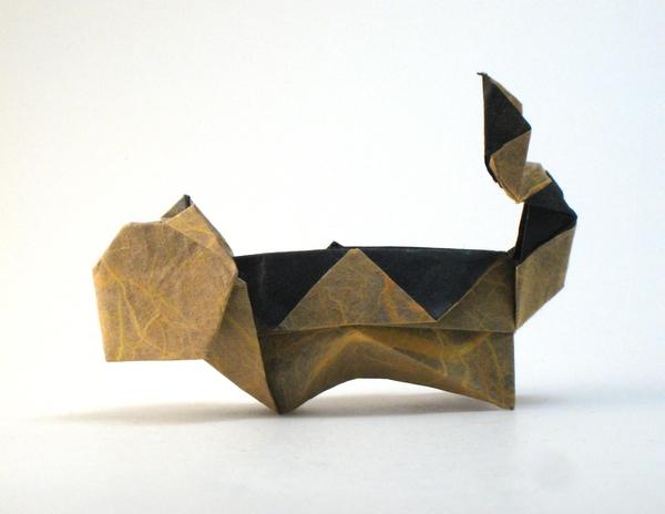 Origami Tiger By Matsuno Yukihiko Folded Gilad Aharoni