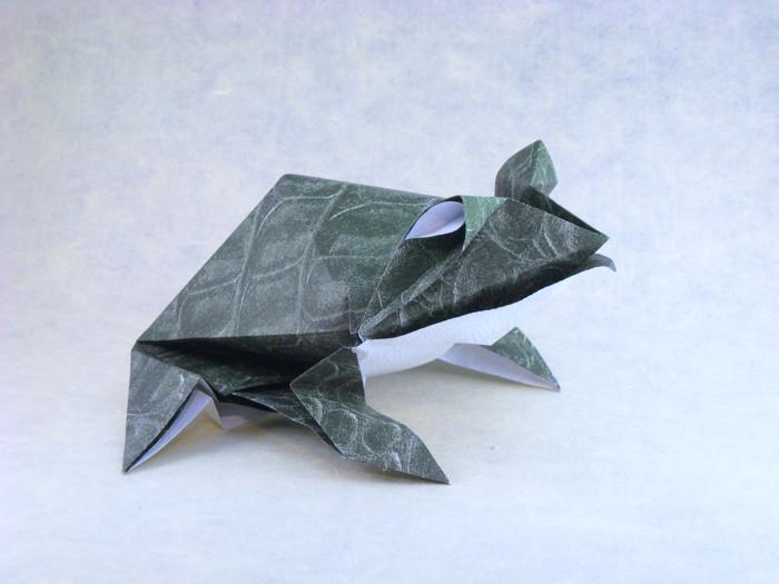 Pre-Columbian Frog | Origami papier, Origami frosch, Origami-tiere | 525x700