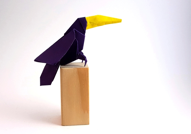 Origami Toucan by Hsi-Min Tai folded by Gilad Aharoni