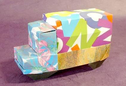 Origami Truck By Makoto Yamaguchi Folded Gilad Aharoni