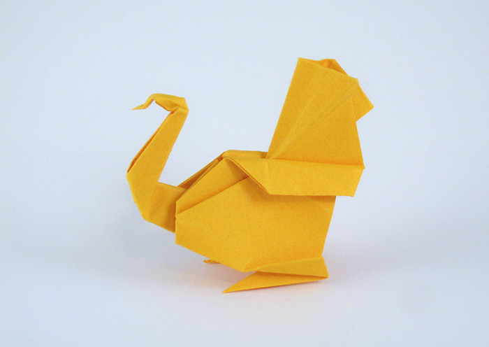 Kunihiko Kasahara 34 Square Origami Turkey By Folded From A Of Tant Paper Gilad Aharoni On