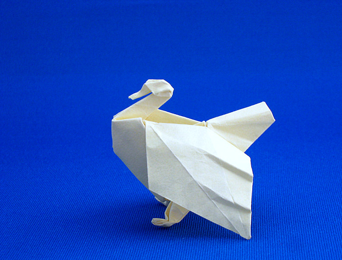 Origami Turkey by Jozsef Zsebe folded by Gilad Aharoni on giladorigami.com