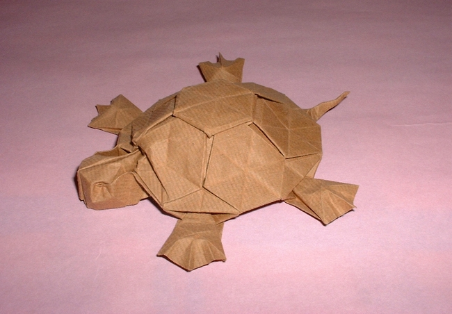 Origami Turtle by Romain Chevrier folded by Gilad Aharoni on www.giladorigami.com