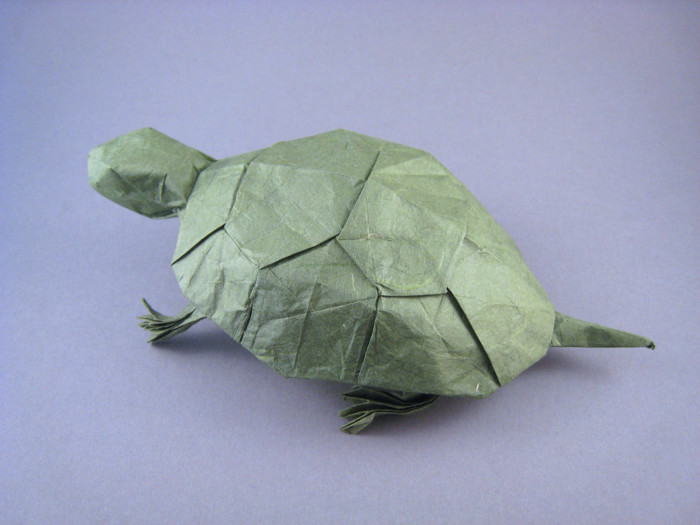 Origami Snapping turtle by John Szinger folded by Gilad Aharoni on giladorigami.com