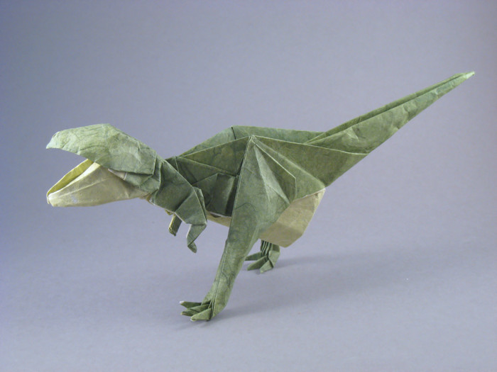 Origami Tyrannosaurus by Issei Yoshino folded by Gilad Aharoni on giladorigami.com